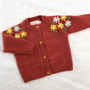 Flower Adornment Cardigan