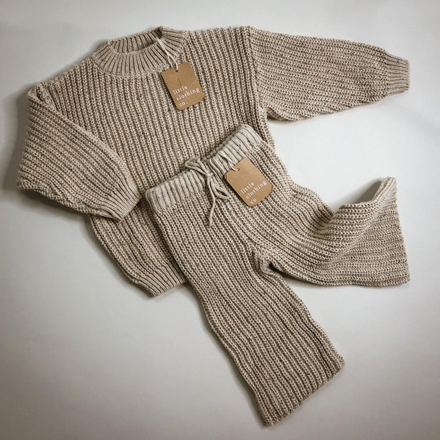 Oatmeal Speckle Knit Jumper