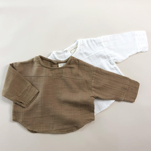 Road Trip Loose Shirt - Crinkle Linen/Cotton