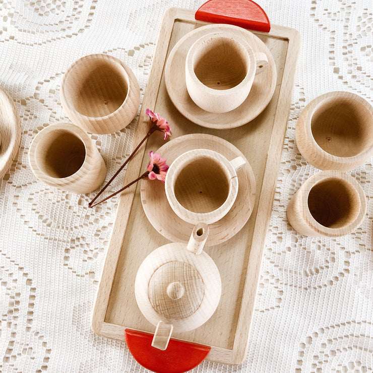 My Mini Wooden Tea Party Set