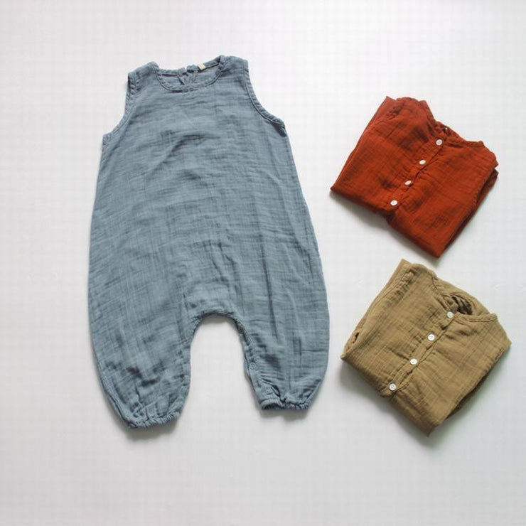 Summer Trails Linen/Cotton Jumpsuit in Sizes 1-2 to 7-9
