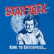 Star Trek: The Original Series Kirk Comic Moon Short Sleeve T-Shirt