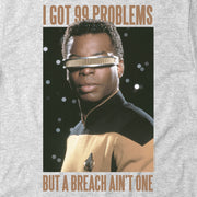 Star Trek: The Next Generation Geordi Problems Short Sleeve T-Shirt