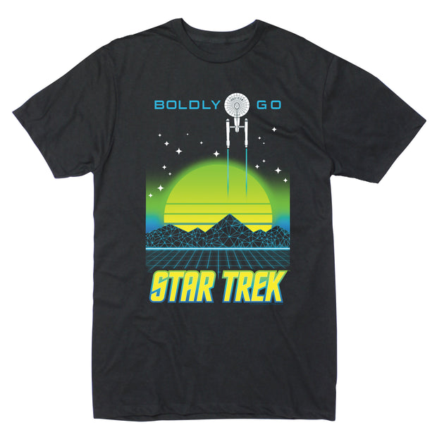 Star Trek: The Original Series Boldy Go Electro Short Sleeve T-Shirt
