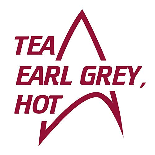 Star Trek: The Next Generation Tea Earl Grey Hot 11 oz Two-Tone Mug - MAROON