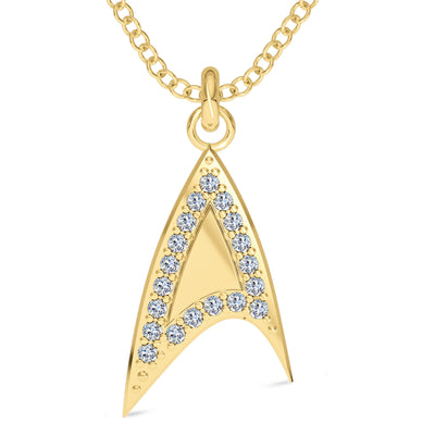 Star Trek Logo Diamond Outline Pendant