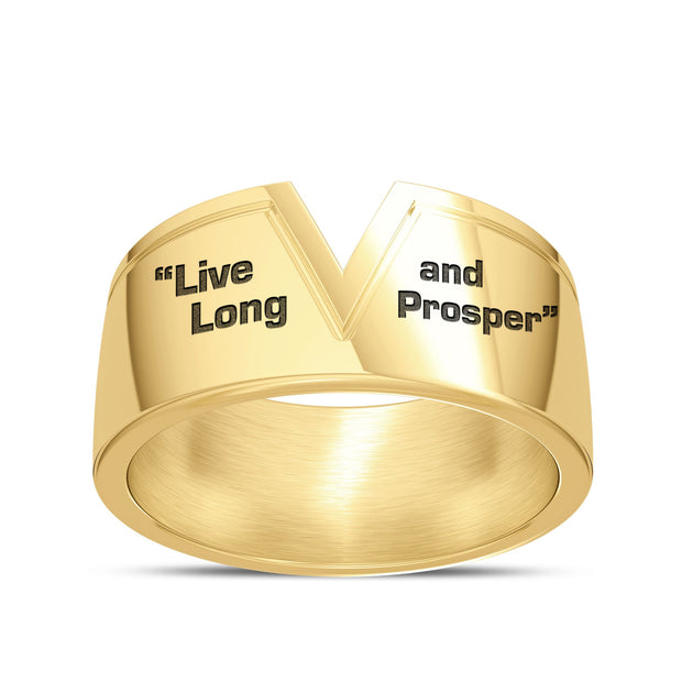 Star Trek Live Long And Prosper Men's Ring