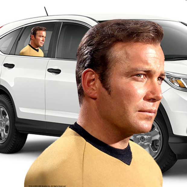 Star Trek: The Original Series Captain Kirk Passenger Series Window Decal