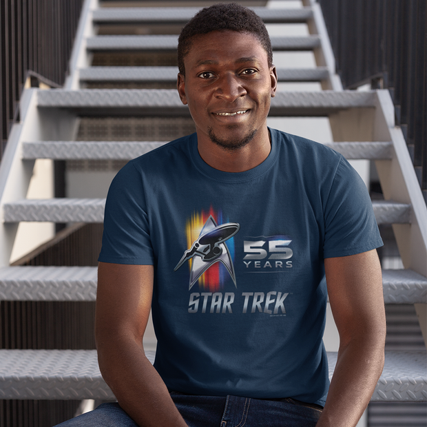 Star Trek 55th Anniversary Adult Short Sleeve T-Shirt