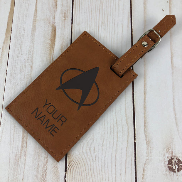 Star Trek: The Next Generation Personalized Leather Luggage Tag