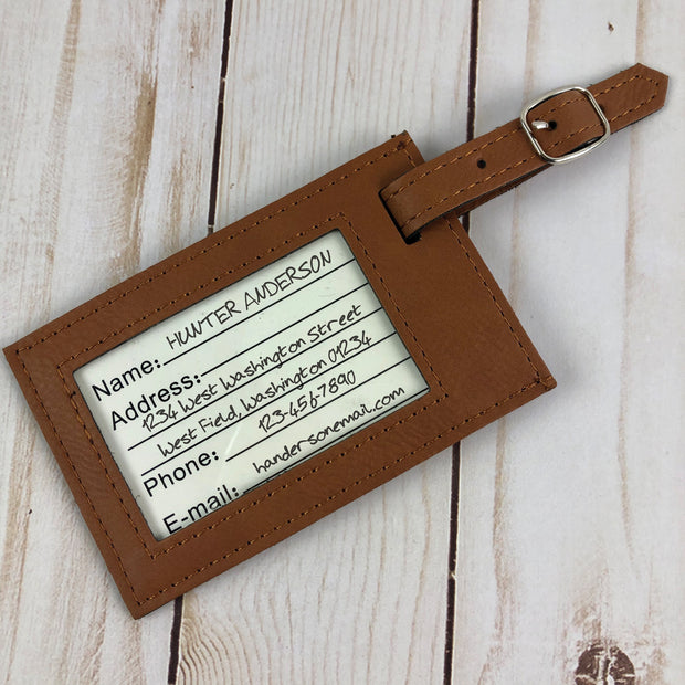 Star Trek: The Original Series Personalized Leather Luggage Tag