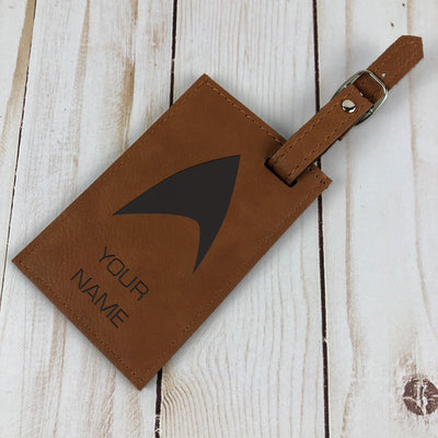 Star Trek: Picard Personalized Leather Luggage Tag