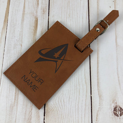 Star Trek: Discovery Personalized Leather Luggage Tag