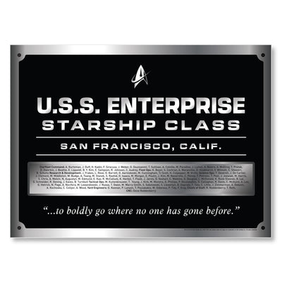Star Trek: The Original Series U.S.S. Enterprise Dedication Plaque Sticker