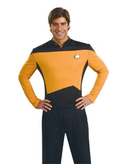 Star Trek: The Next Generation Deluxe Gold Shirt Operations Uniform