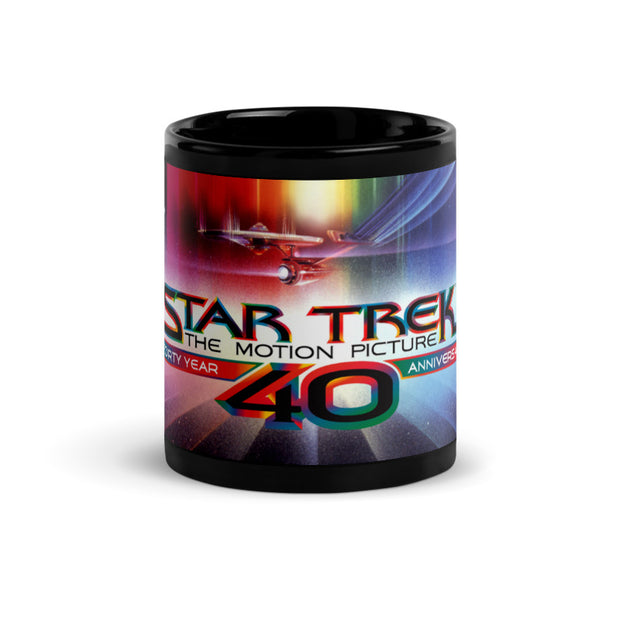 Star Trek: The Motion Picture 40th Anniversary U.S.S. EnterpriseBlack Mug