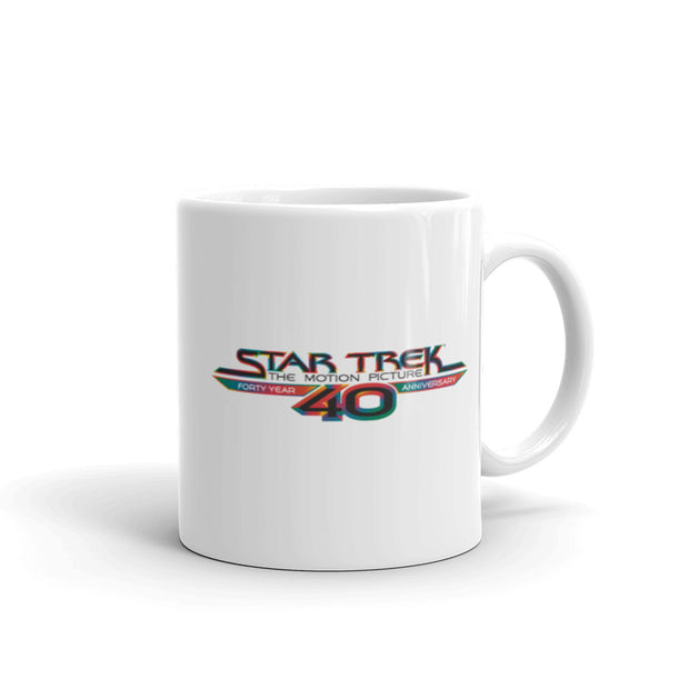 Star Trek: The Motion Picture40th Anniversary LogoBlack Mug
