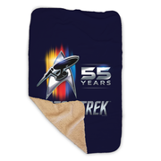 Star Trek 55th Anniversary Sherpa Blanket