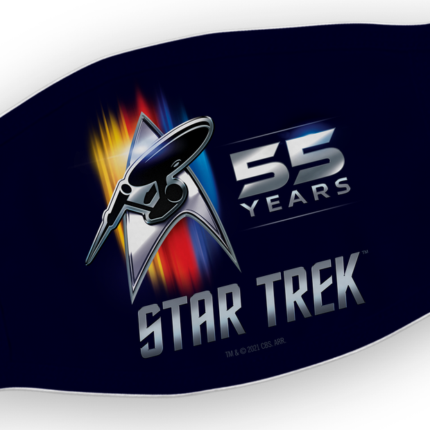 Star Trek 55th Anniversary Logo Washable Face Mask