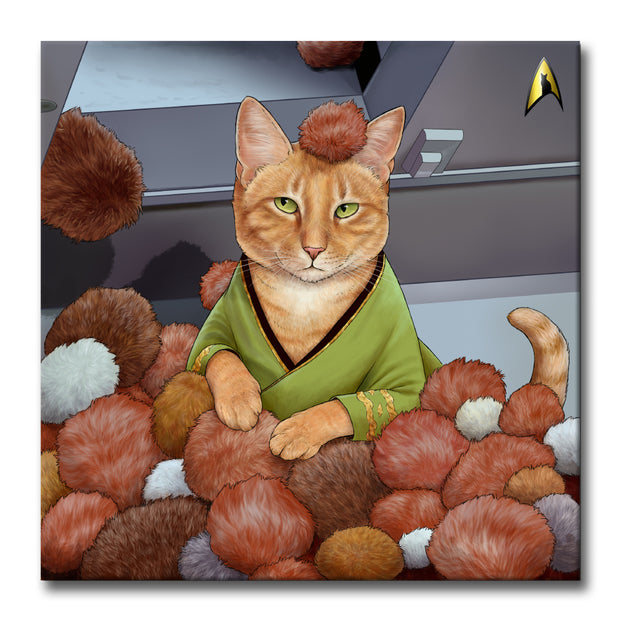 "Star Trek: The Original Series Tribble Cat Premium Gallery Wrapped Canvas 20"" x 20"""