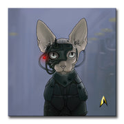 Star Trek: The Next Generation Borg Cat Premium Gallery Wrapped Canvas
