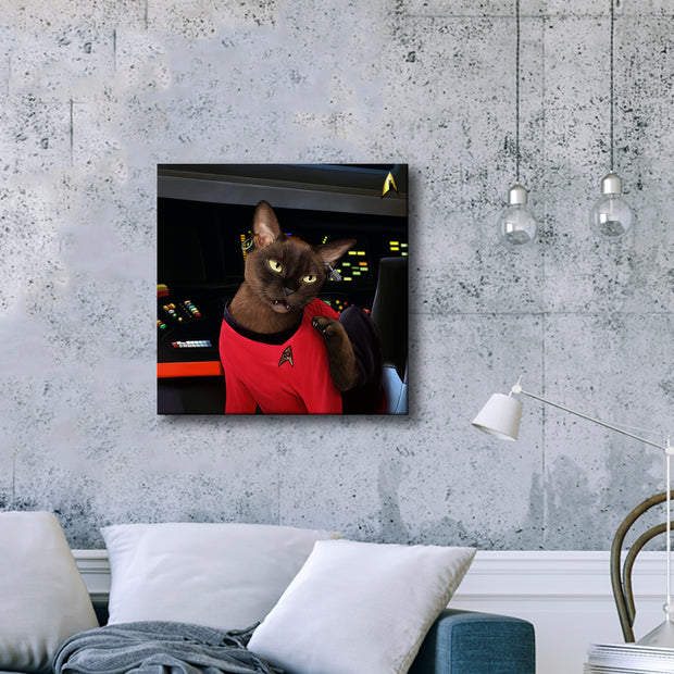 Star Trek: The Original Series Uhura Cat Premium Gallery Wrapped Canvas