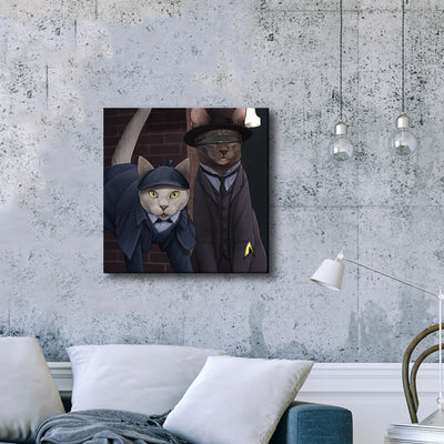 Star Trek: The Next Generation Detective Cats Premium Gallery Wrapped Canvas