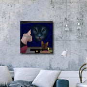 Star Trek: The Next Generation Hologram Cat Premium Gallery Wrapped Canvas