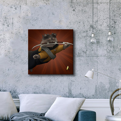 Star Trek: The Next Generation Worf Cat Premium Gallery Wrapped Canvas