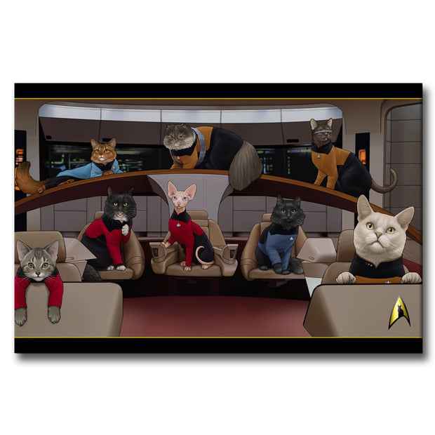 Star Trek: The Next Generation Crew Cats Gallery Wrapped Canvas