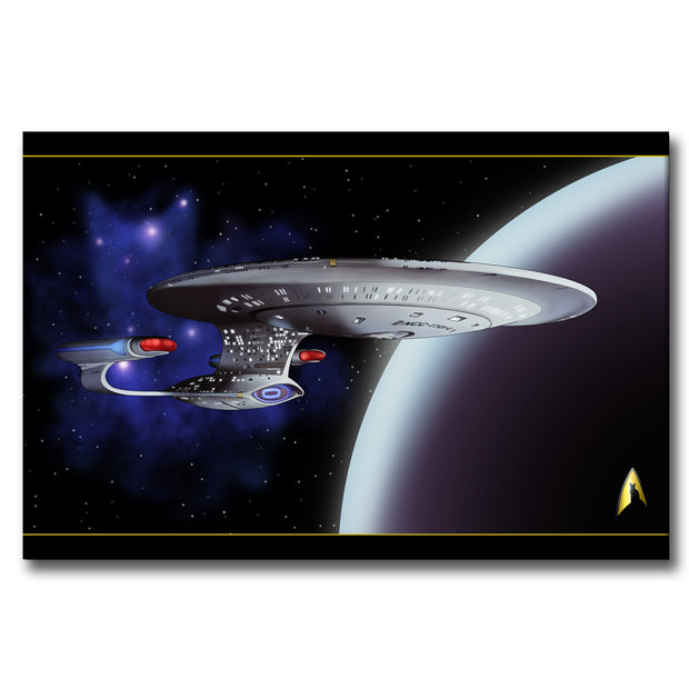 Star Trek: The Next Generation Space Cat Gallery Wrapped Canvas