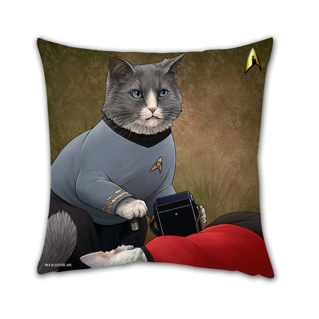 "Star Trek: The Original Series McCoy Cat Pillow - 16"" x 16"""