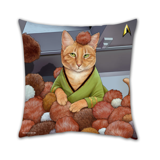 "Star Trek: The Original Series Tribble Cat Pillow - 16"" x 16"""