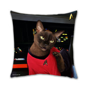 "Star Trek: The Original Series Uhura Cat Pillow - 16"" x 16"""