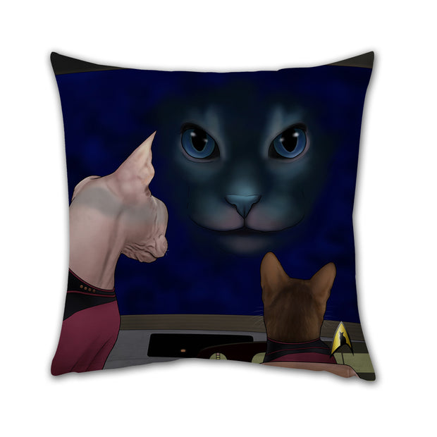 "Star Trek: The Next Generation Hologram Cat Pillow - 16"" x 16"""