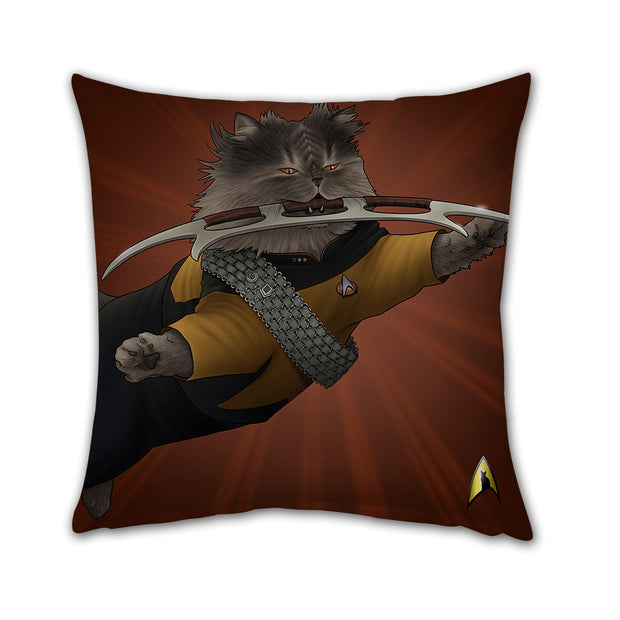 "Star Trek: The Next Generation Worf Cat Pillow - 16"" x 16"""