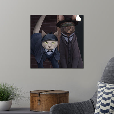 Star Trek: The Next Generation Detective Cats Premium Satin Poster