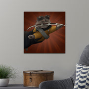 Star Trek: The Next Generation Worf Cat Premium Satin Poster