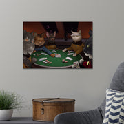 Star Trek: The Next Generation Poker Cats Premium Satin Poster