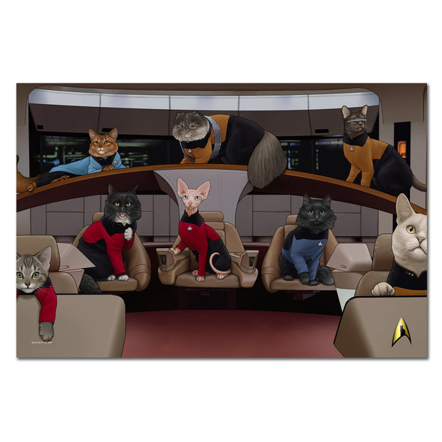 Star Trek: The Next Generation Crew Cats Premium Satin Poster