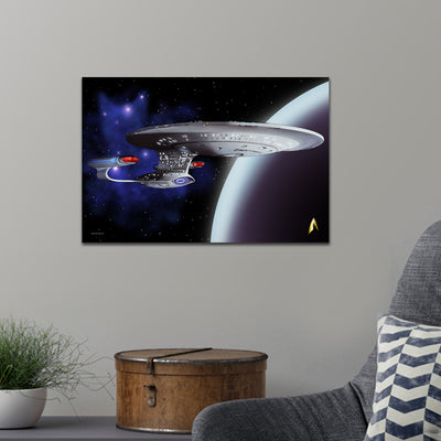 Star Trek: The Next Generation Space Cat Premium Satin Poster