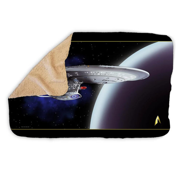 Star Trek: The Next Generation Space Cat Sherpa Blanket