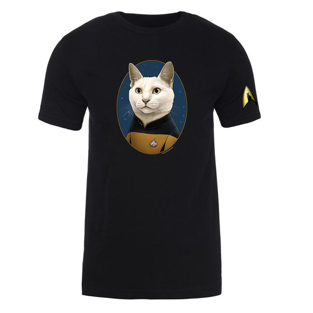 Star Trek: The Next Generation Data Cat Portrait Adult Short Sleeve T-Shirt