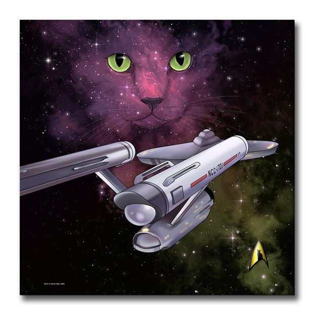 Star Trek: The Original Series Space Cat Premium Gallery Wrapped Canvas