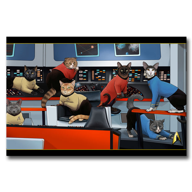 Star Trek: The Original Series Crew Cats Gallery Wrapped Canvas