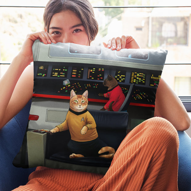 "Star Trek: The Original Series Kirk's Chair Cat Pillow - 16"" x 16"""