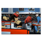 Star Trek: The Original Series Crew Cats Premium Satin Poster