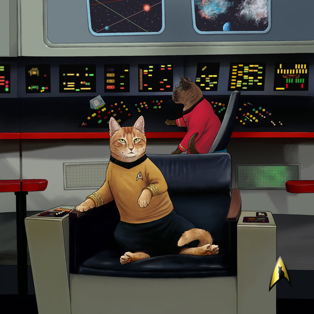 Star Trek: The Original Series Kirk's Chair Cat Tote Bag