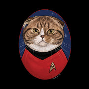 Star Trek: The Original Series Scotty Cat Portrait Women's Relaxed Scoop Neck T-Shirt