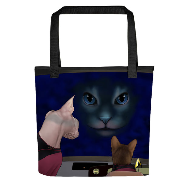 Star Trek: The Next Generation Hologram Cat Tote Bag
